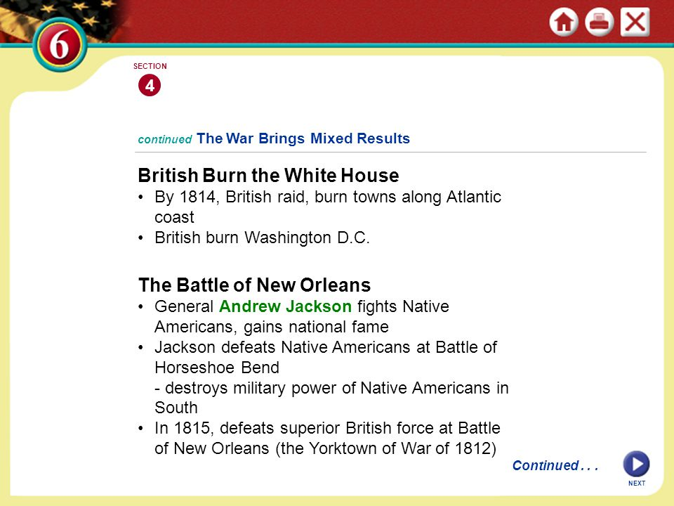 British Burn the White House