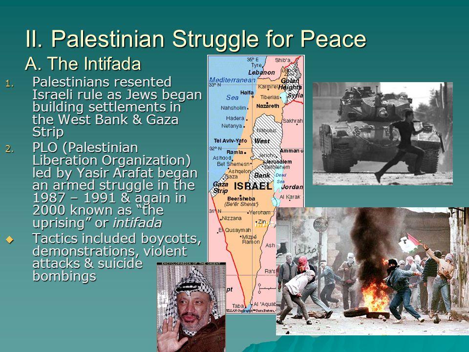 II. Palestinian Struggle for Peace A. The Intifada
