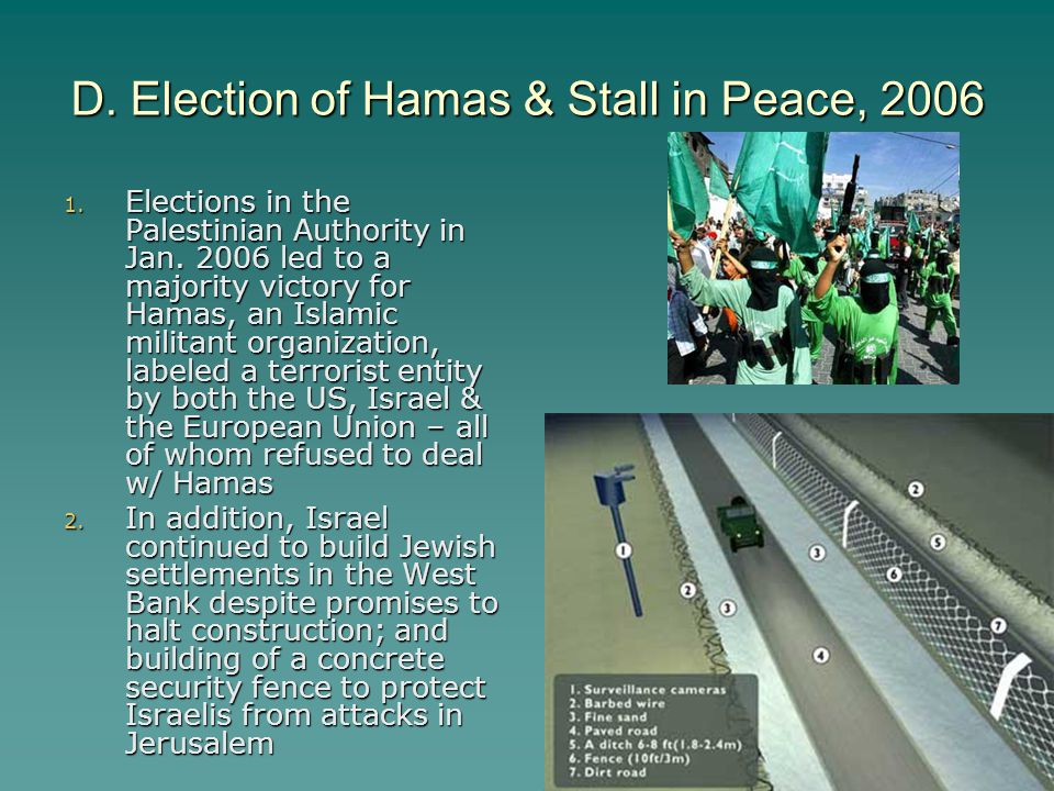 D. Election of Hamas & Stall in Peace, 2006