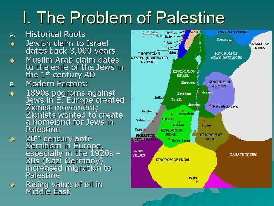 I. The Problem of Palestine