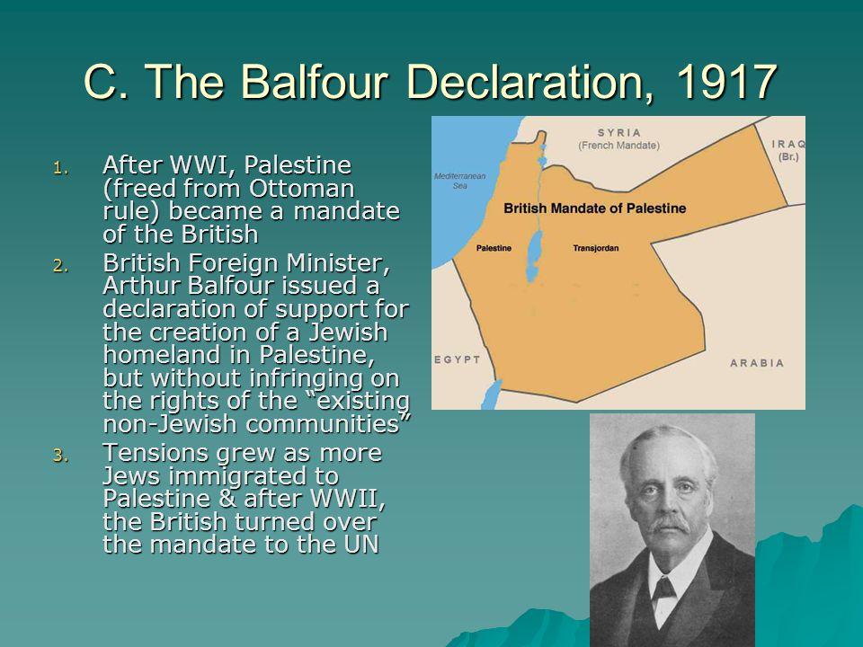 C. The Balfour Declaration, 1917