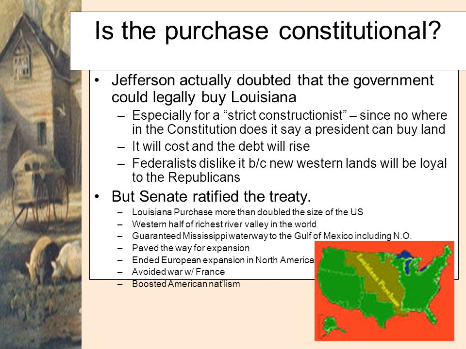 Is the purchase constitutional
