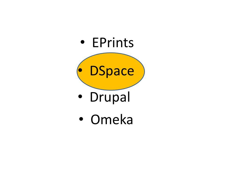 EPrints DSpace Drupal Omeka