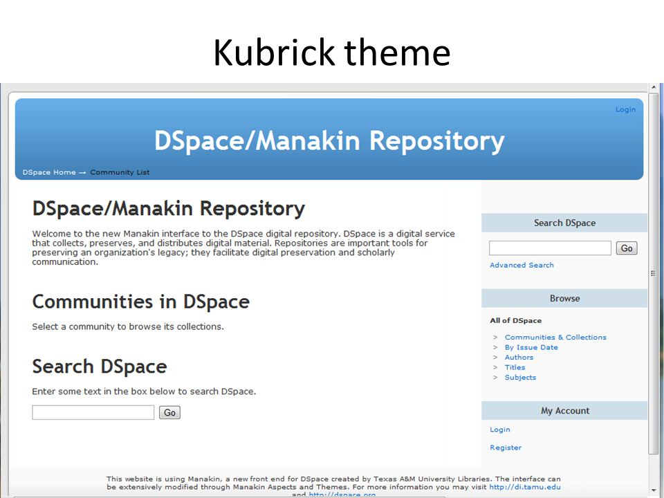 Kubrick theme