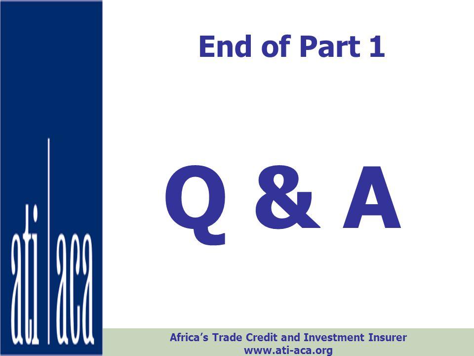End of Part 1 Q & A