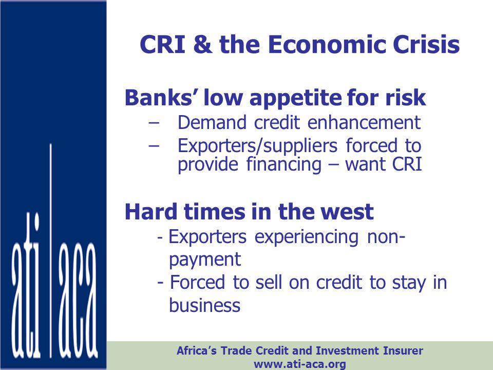 CRI & the Economic Crisis