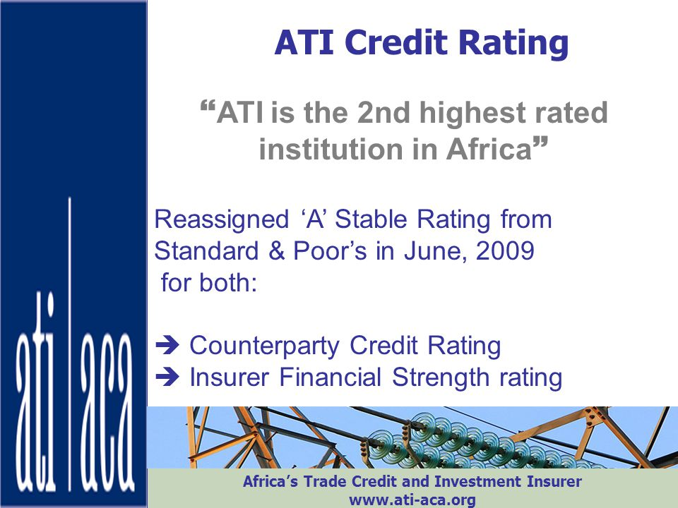 ATI is the 2nd highest rated institution in Africa