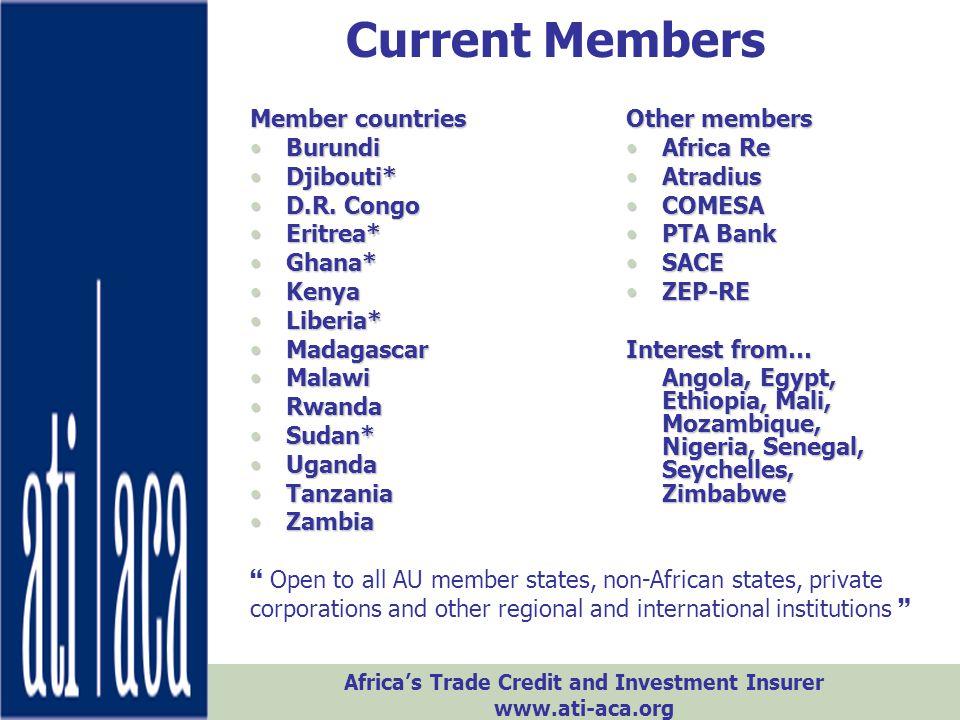 Current Members Member countries Burundi Djibouti* D.R. Congo Eritrea*