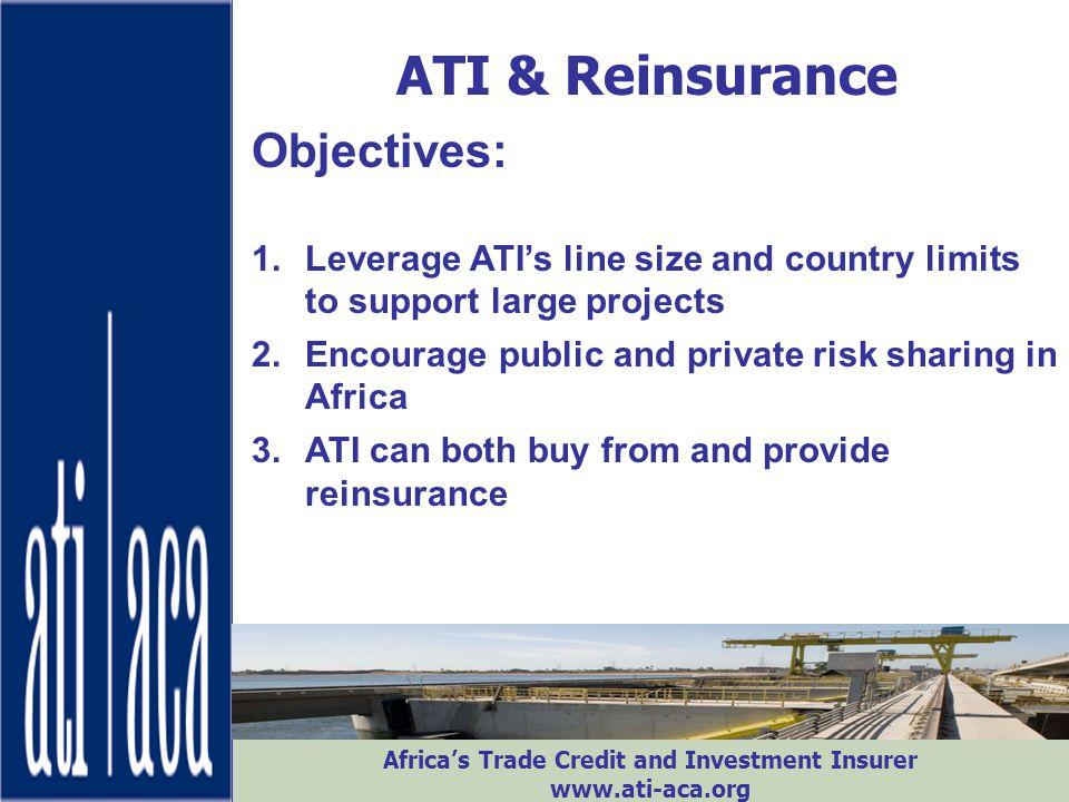 ATI & Reinsurance Objectives: ATI-ACA