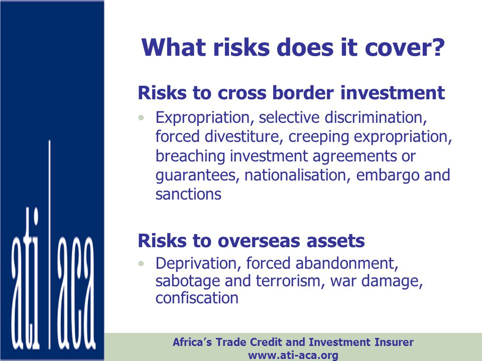 What risks does it cover