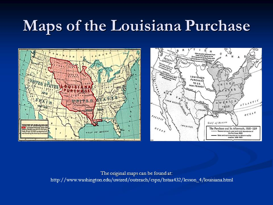Maps of the Louisiana Purchase