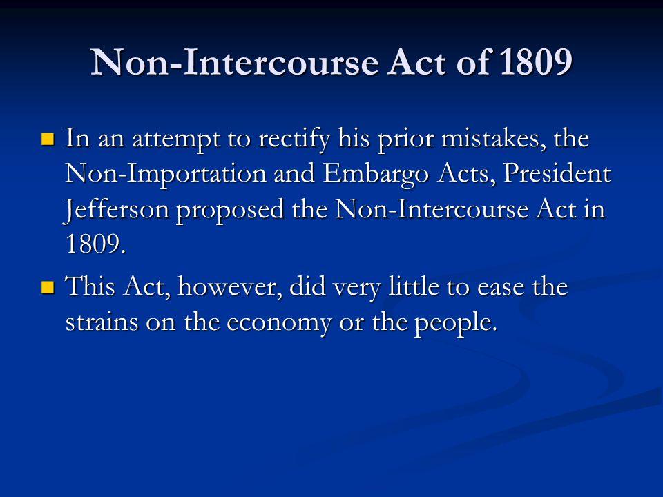 Non-Intercourse Act of 1809