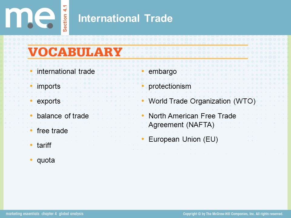 International Trade international trade imports exports