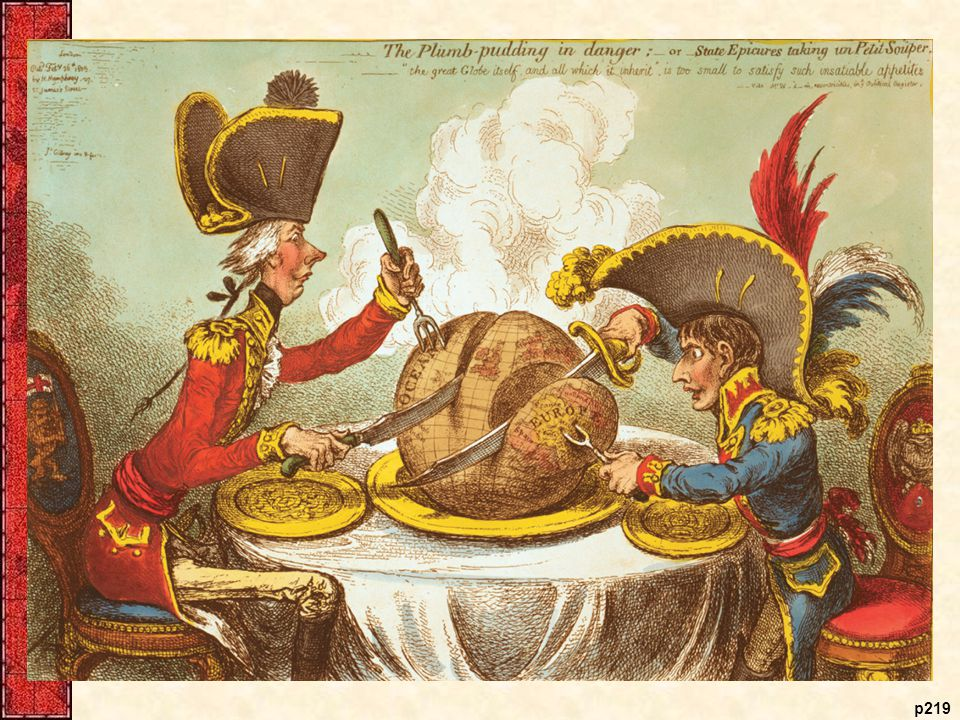 Britain and France Divide Up the World, 1805 The great-power rivalry symbolized