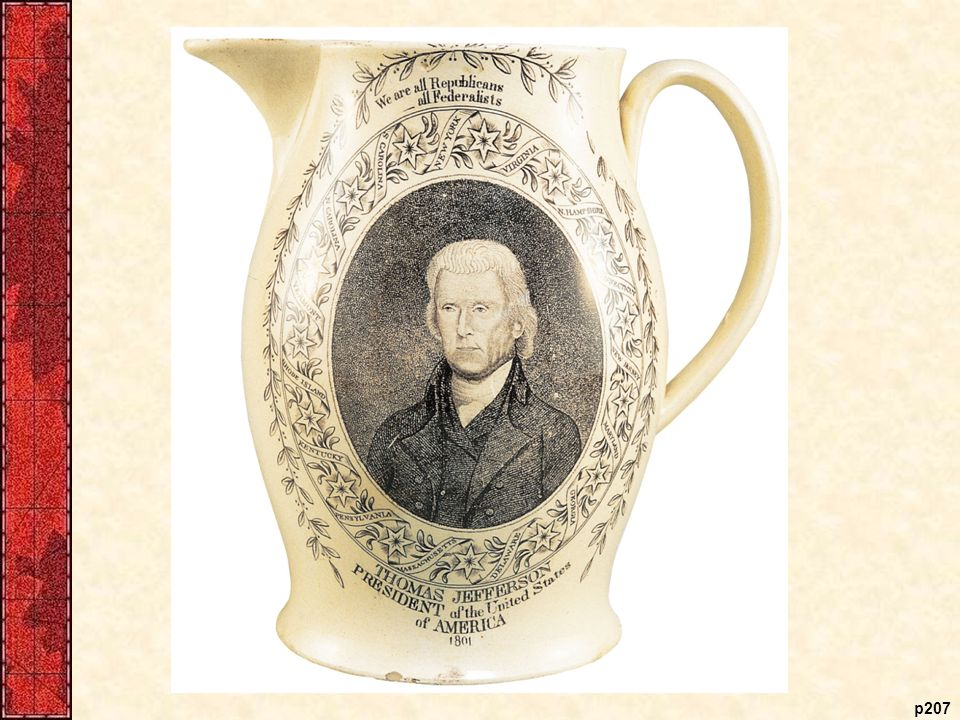 Jefferson Inaugural Pitcher, 1801 This memento from