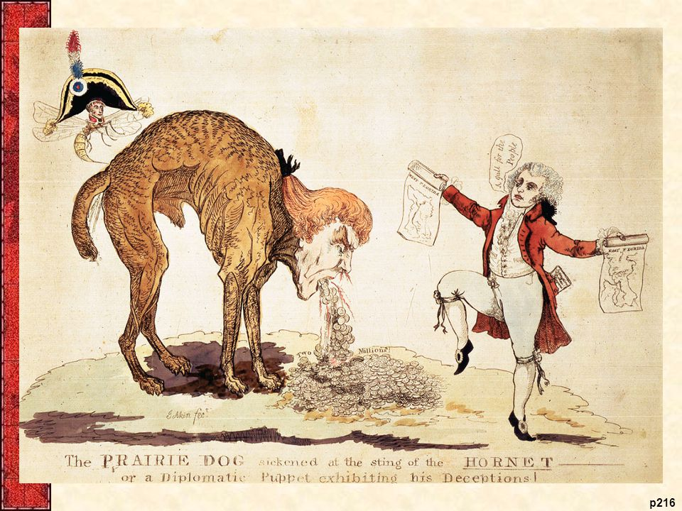 The Prairie Dog Sickened at the Sting of the Hornet, 1806 In this anti-Jefferson satire