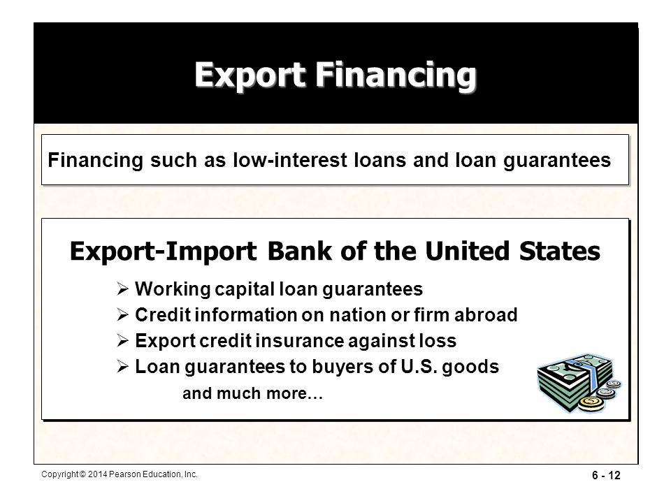 Export Financing Export-Import Bank of the United States