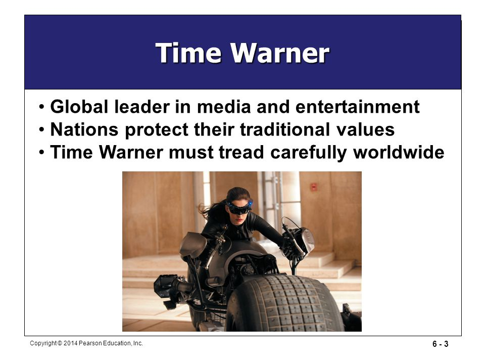 Time Warner Global leader in media and entertainment