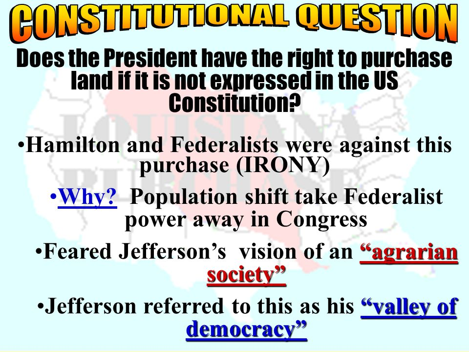 CONSTITUTIONAL QUESTION