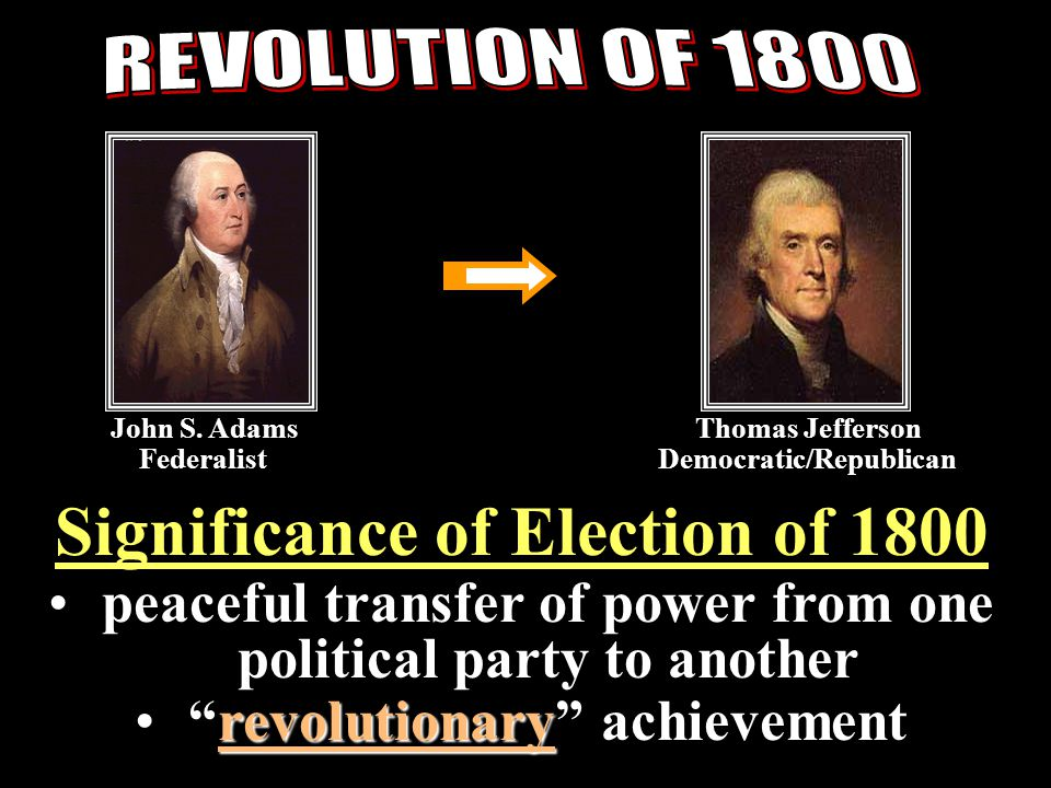 Significance of Election of 1800