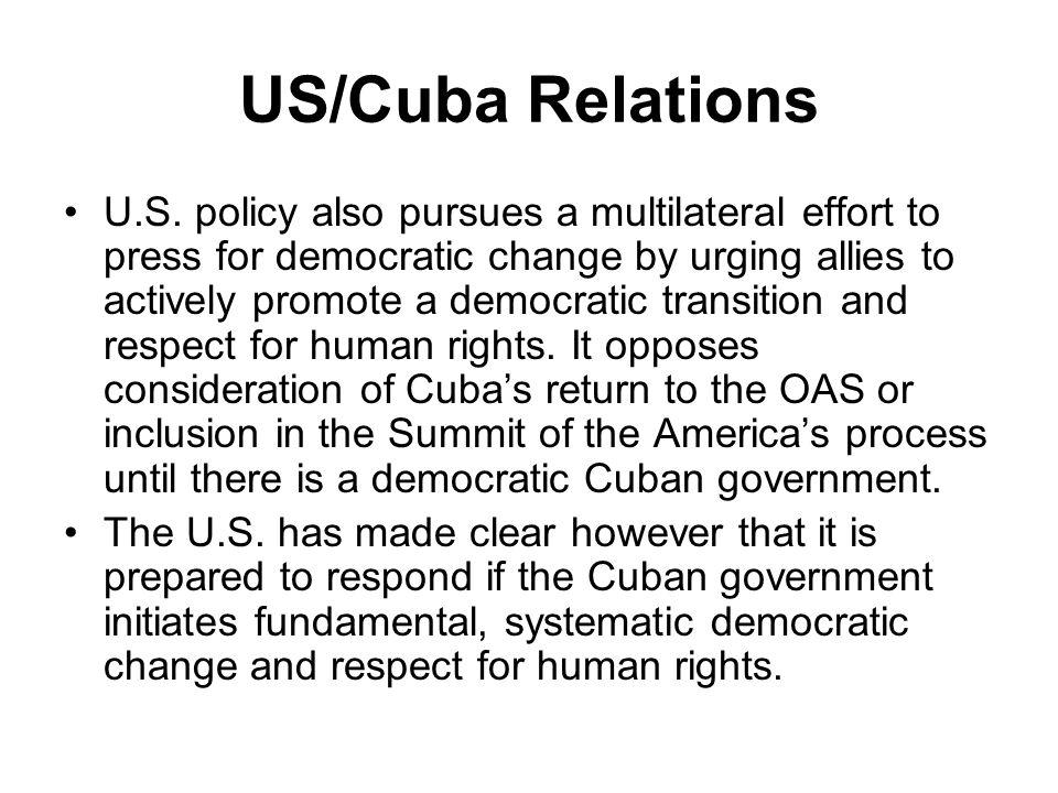 US/Cuba Relations