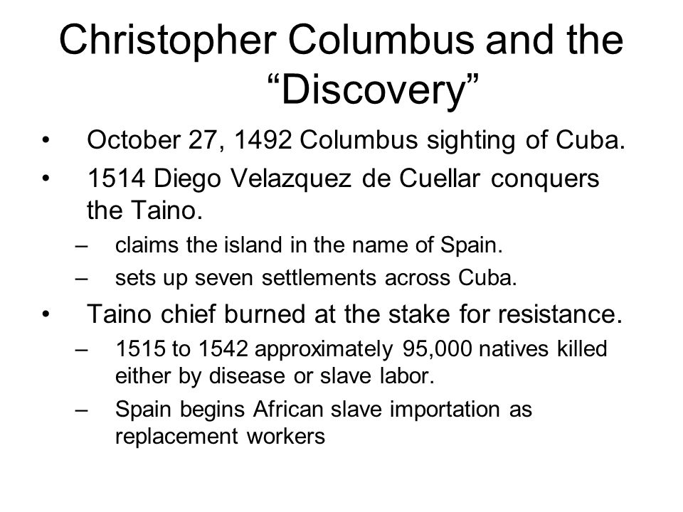 Christopher Columbus and the Discovery