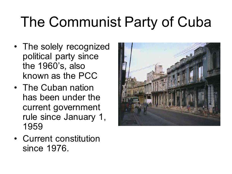 The Communist Party of Cuba