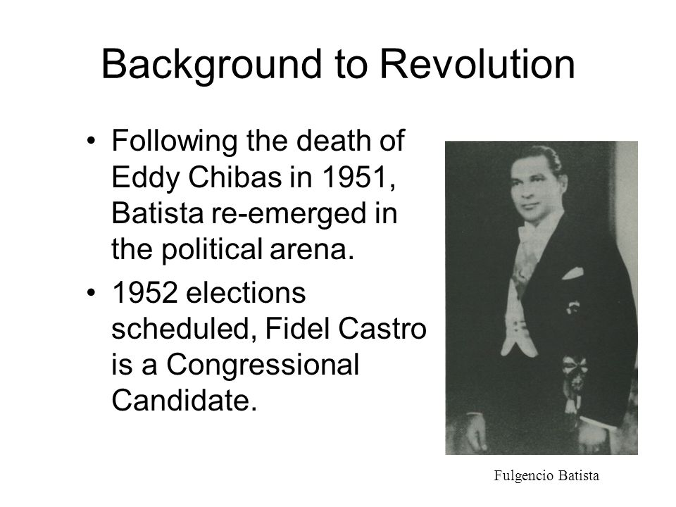 Background to Revolution