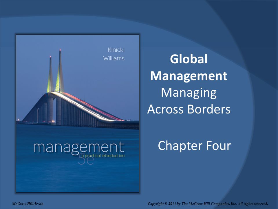 Global Management Managing Across Borders