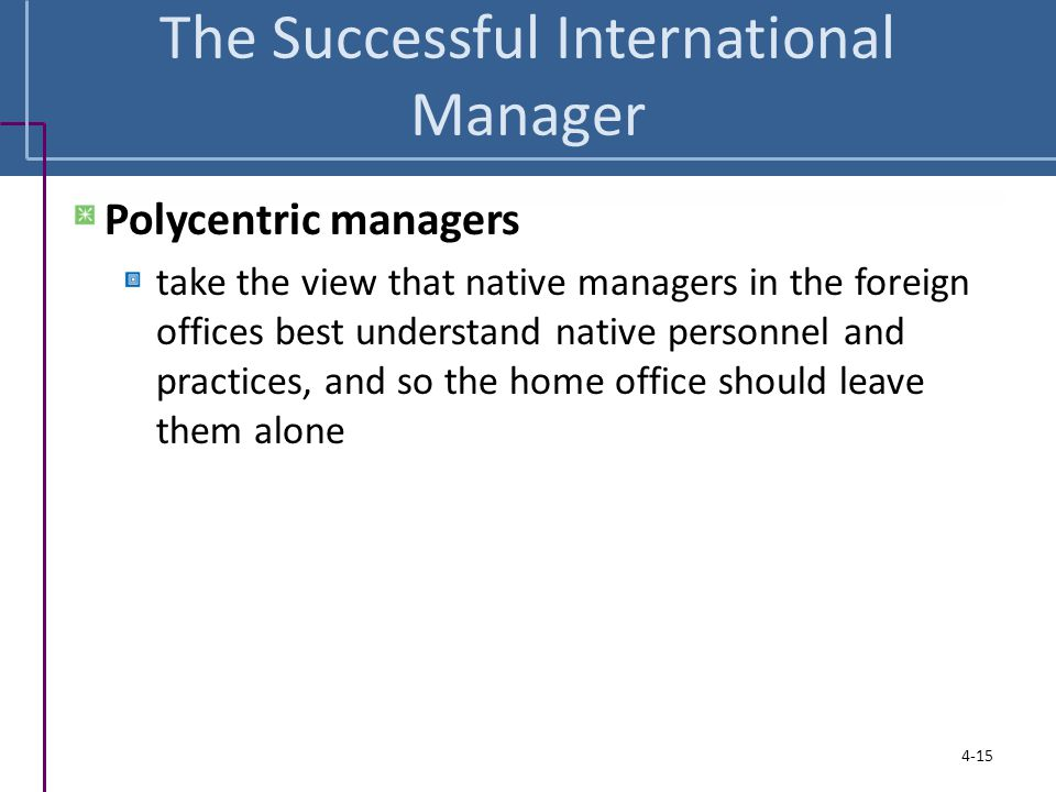 The Successful International Manager