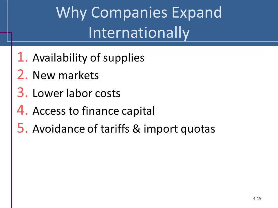 Why Companies Expand Internationally