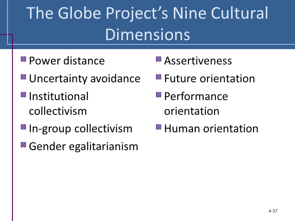 The Globe Project's Nine Cultural Dimensions