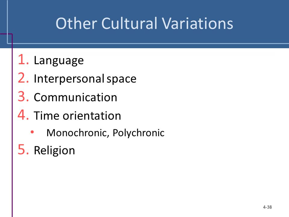Other Cultural Variations