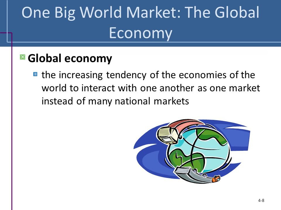 One Big World Market: The Global Economy