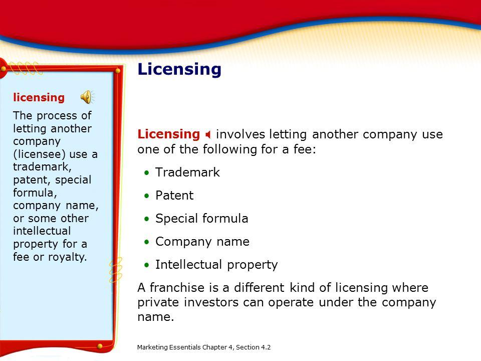 Licensing licensing.