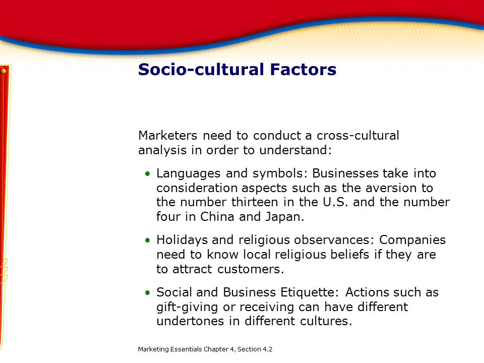 business in china cultural factors Factors to consider for international marketing international marketing is very different from domestic marketing there are a whole host of issues when marketing internationally that a business does not normally have to deal with when marketing in their own country.