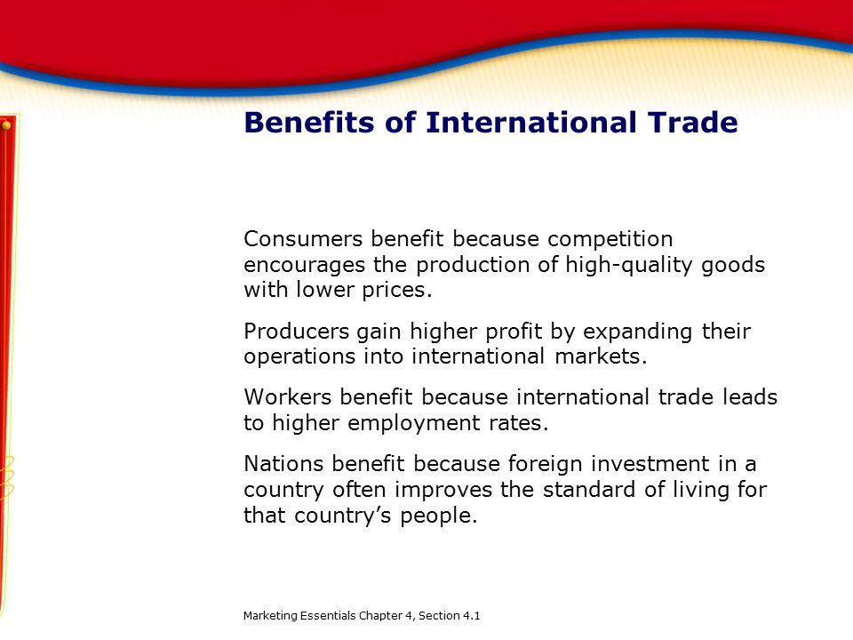 Benefits of International Trade