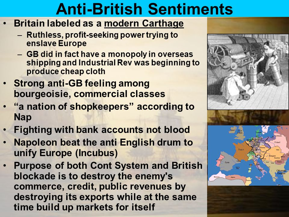 Anti-British Sentiments