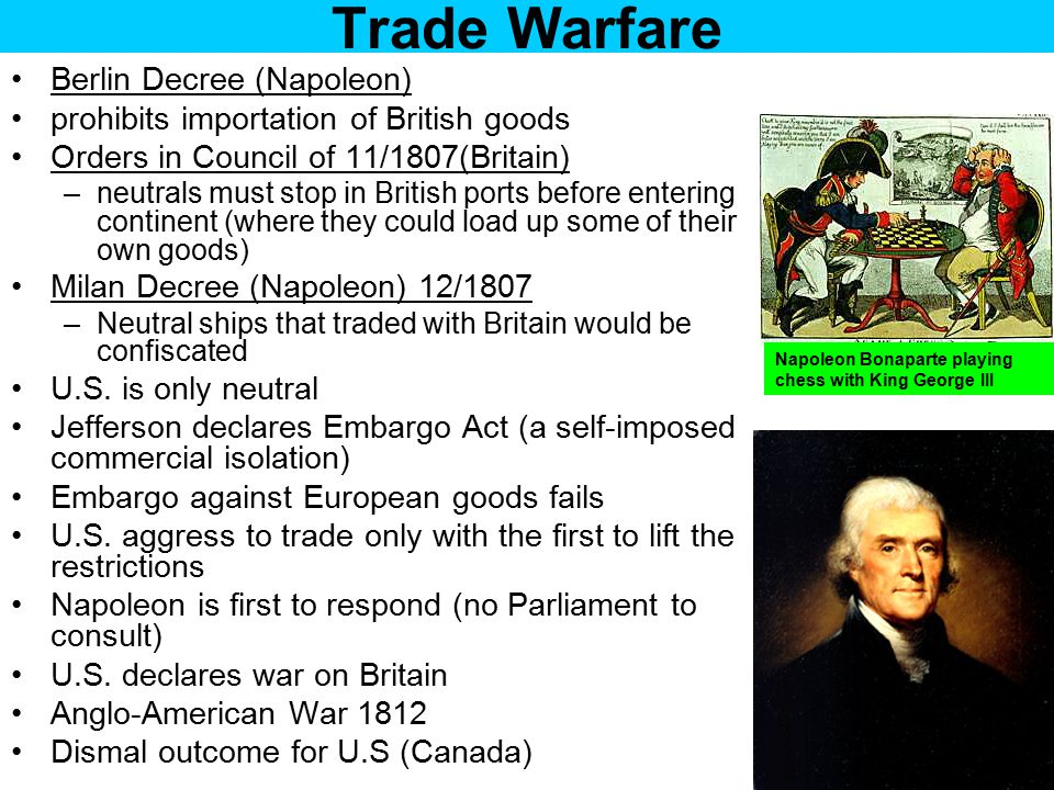 Trade Warfare Berlin Decree (Napoleon)