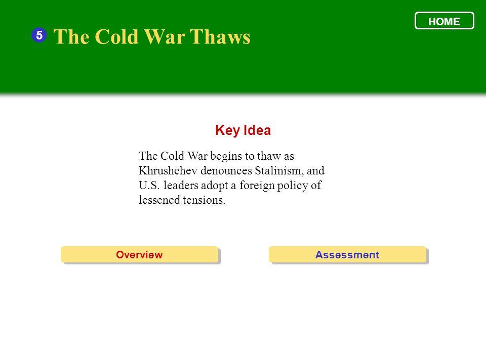 The Cold War Thaws Key Idea 5
