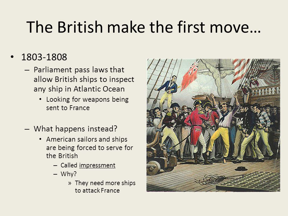 The British make the first move…