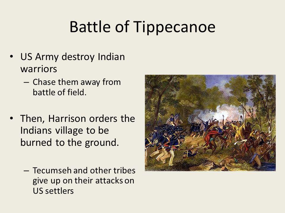 Battle of Tippecanoe US Army destroy Indian warriors