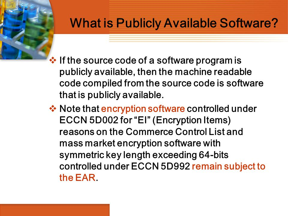 What is Publicly Available Software
