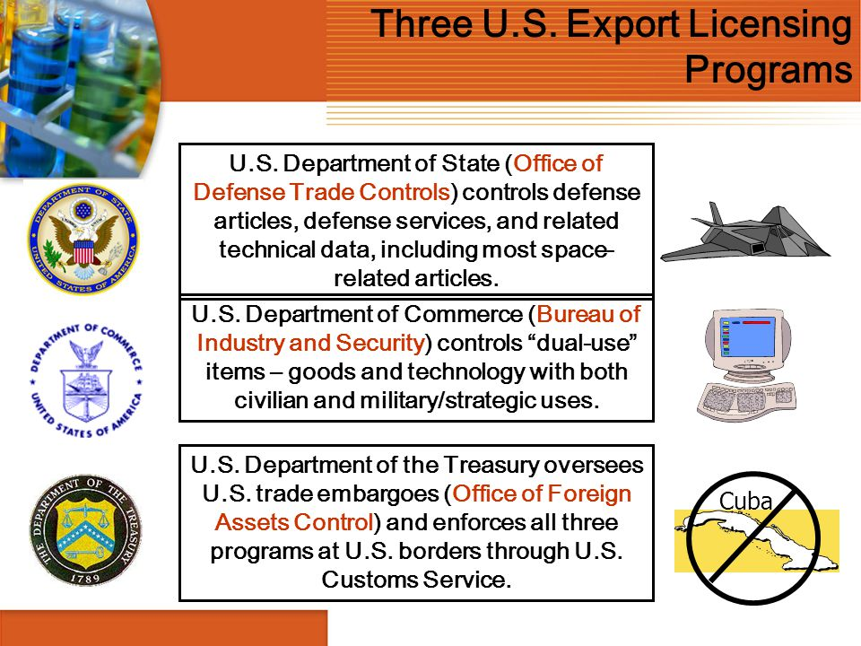 Three U.S. Export Licensing Programs