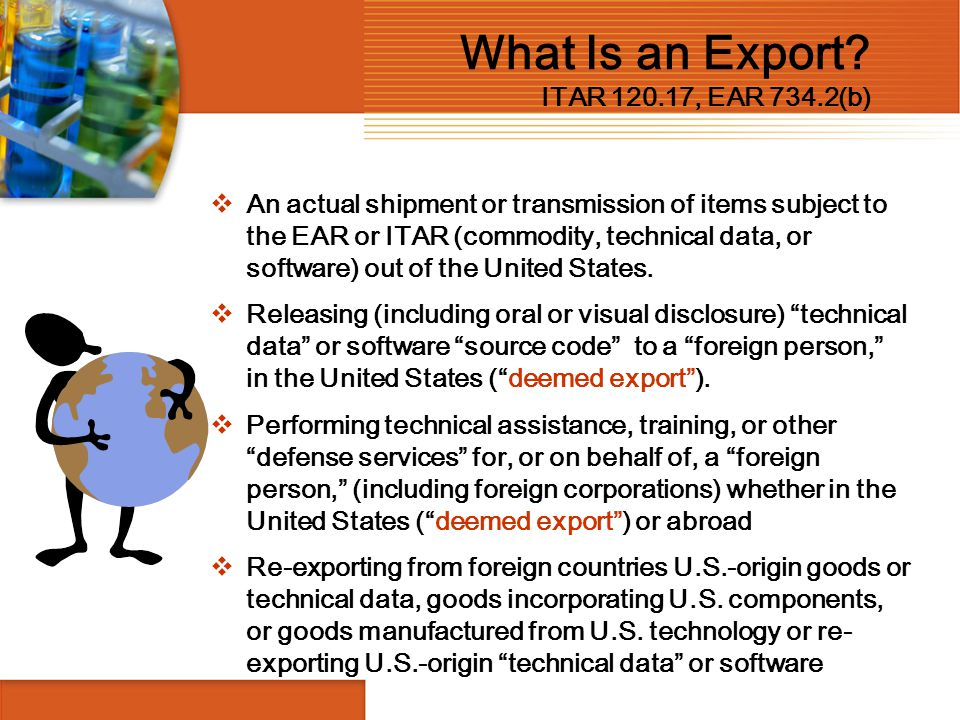 What Is an Export ITAR 120.17, EAR 734.2(b)