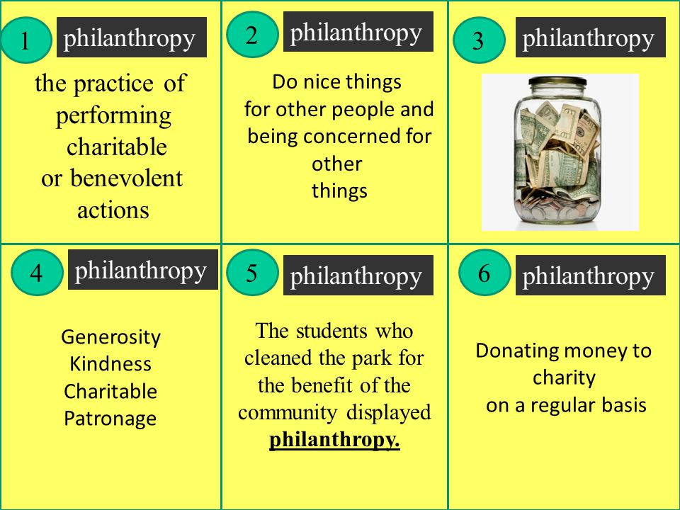 2 philanthropy 1 philanthropy 3 philanthropy the practice of
