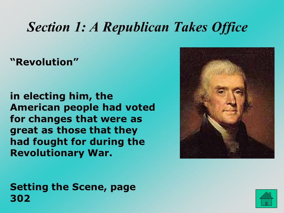 Section 1: A Republican Takes Office
