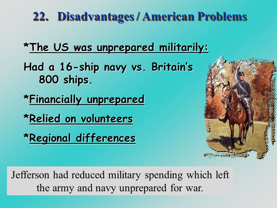 22. Disadvantages / American Problems
