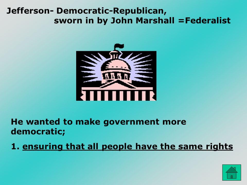 Jefferson- Democratic-Republican,