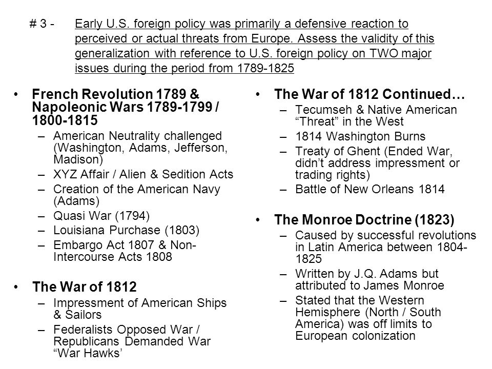 "frq war of 1812 Frq composed of: dbq (45 minutes) leq(35 minutes) plus - ""reading"" time  (15 minutes)  category – sentiments resulting from the war of 1812."
